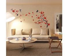 Walplus Wand Aufkleber Blossom Flower abnehmbarer Wandbild Kunst Abziehbilder Vinyl Home Dekoration DIY Living Schlafzimmer Décor Tapete Kinder Zimmer Geschenk, mehrfarbig