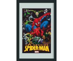 empireposter - Spiderman - Marvel Held - Größe (cm), ca. 20x30 - Bedruckter Spiegel, NEU - Beschreibung: - Bedruckter Wandspiegel mit schwarzem Kunststoffrahmen in Holzoptik -