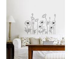 Walplus Wand Sticker Familie Aufkleber Kunst Dekoration Weiße Blumen Wohnzimmer