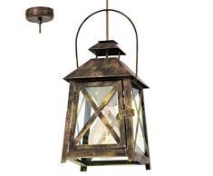EGLO REDFORD Hängeleuchte, Stahl, 60 W, gold-rot