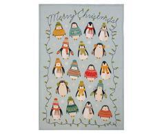 Ulster Weavers Geschirrtuch, Motiv: Pinguine und Lichterkette, 74Â x 48Â cm