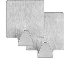 mumbi Handtuchhalter selbstklebend Handtuchhaken ohne Bohren Klebehaken Edelstahl 2er Set