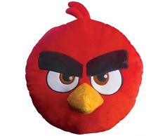Angry Birds 043601 3D Kissen Red, Polyester, Durchmesser 36 cm