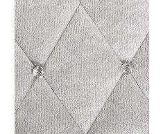 Eurofirany Tagesdecke, Polyester, Silber, 200 x 220 cm