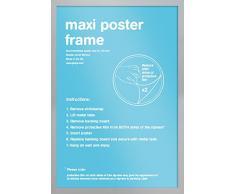 GB Eye Rahmen für Maxi-Poster, 61 x 91,5 x cm, silber