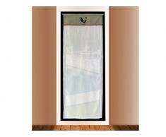 Soleil docre 046691 Gardine für Fenstertür Bestickt Baumwolle 70x200 cm COQ