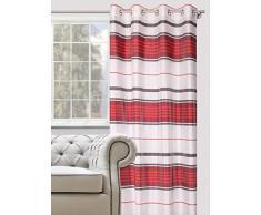 Splendid COSTA Konfektion Vorhang mit Ösen, 140 x 245 cm, rot
