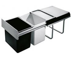 Hailo 3640001 Abfallsammler TR Swing 40.2/36A für Schränke ab 400 mm Breite mit Drehtür, Plastik, grau, 34.6 x 47 x 32 cm