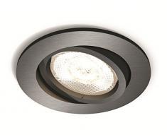 Philips myLiving LED Warmglow Einbauspot Shellbark, 1-flammig, rund, anthrazit