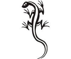INDIGOS WG30008-70 Wandtattoo w008 Gecko Echse Kriechtier Afrika Asien 120 x 58, schwarz