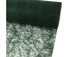 25m Sizoflor ® Original Tischband Tischläufer Tischdeko Faserseide 30cm / 300mm, Farbe:olivgrün
