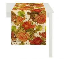 Apeltstoffe 3039_48x140_60 Tischläufer 3039 Floral circa 48 x 140 cm, Fb. 60, pink