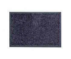 ASTRA hochwertiger Schmutzfang – waschbarer Fußabstreifer – robust – langlebiger Fußabtreter – für den Indoorbereich – blaugrau – 60 x 180 cm