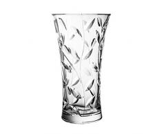Crystaljulia 4595 Vase, Kristall, 25cm, 14 x 14 x 25 cm