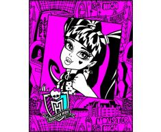CTI 041217 Fleece Decke Monster High Frame, 110 x 140 cm, rosa