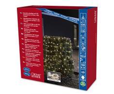 Konstsmide 3731-103 LED Lichterkette / für Außen (IP44) / Batteriebetrieben: 4xD 1.5V (exkl.) / mit Lichtsensor, 6h und 9h Timer / 480 warm weiße Dioden / transparentes Kabel