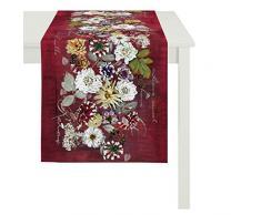 Apeltstoffe 3309 _48x135_Fb.30 Tischläufer, Baumwolle, rot, 48 x 135 x 0.5 cm