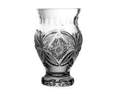 Crystaljulia 4203 Vase, Bleikristall, Sternmuster, handgefertigt, 17 cm