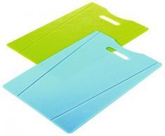 KUHN RIKON 22079 Küchenhelfer Schneidebrett grün/blau (2er-Set)
