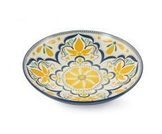 Villa D'Este Home Tivoli Sicilia Light Flower Tischdekoration, Gelb, Maße: Ø 35 x H 7 cm