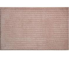 Grund 3D Badteppich 100% Polyester, ultra soft, rutschfest, RIFFLE, Badematte 70x120 cm, schokosahne