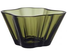 Iittala Aalto Deko Schale, Glas, Moosgrün, 7, 5x14