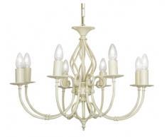 Oaks Lighting Tuscany Kronleuchter, 8-flammig, elfenbeinfarben/goldfarben