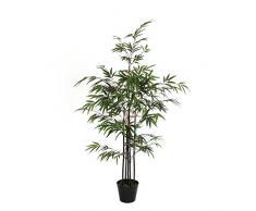 MICA Decorations Bambus im Kunststofftopf Kunstpflanze, Polyester, grün, 75 x 75 x 120 cm, 4-Einheiten
