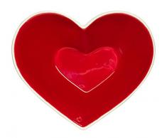 Sagaform Sweetheart Deko Schale, Keramik, Bunt, 13 x 11 x 4.5 cm