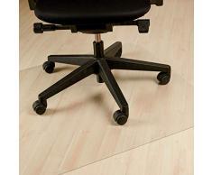 Relaxdays Bodenschutzmatte Bürostuhl, 90 x 120 cm, PVC Bodenunterlage Laminat, Parkett, Teppich, rutschfest, transparent