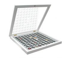 Deknudt Frames S65SZ1-30.0X40.0 Vitrine für Champagnerdeckel, 46,5 x 36 x 4,6 cm, Weiß/Grau