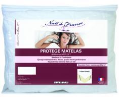 Nuit de France 329377Schutzbezug für Matratze Baumwolle/Polyester Weiß, weiß, 140 x 200 cm
