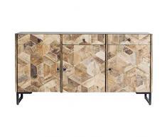 Kare Design Sideboard Tortuga, breite Kommode, Buffet, Schrank aus Mango Holz, modernes, rustikales Sideboard, (H/B/T) 86x160x38,5cm