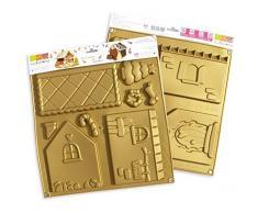 Unbekannt SCRAPCOOKING 3141Â Haus Backform Kit Silikon Gold 33Â x 30,5Â x 1,5Â cm