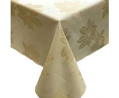 CAIT CHAPMAN HOME COLLECTION Tischdecke und Läufer, goldfarbenes Weihnachtsstern, metallisches Garn, gefärbt, Jacquard gewebt 60 x 120 Tablecloth