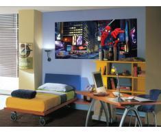 AG Design FTDh 0635 Spider-Man Marvel Stadt, Papier Fototapete Kinderzimmer - 202x90 cm - 1 Teil, Papier, multicolor, 0,1 x 202 x 90 cm