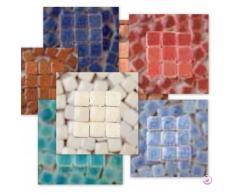 MosaicMicros 5x 5x 3mm 10G 100Keramik glasiert Mini Mosaik Fliesen, hellgrün beige