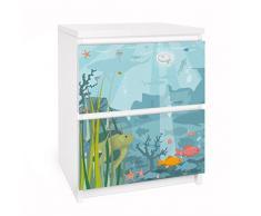 Apalis 91121 Möbelfolie für Ikea Malm Kommode - Selbstklebe nummer EK57 Meereslandschaft, größe 2 mal, 20 x 40 cm