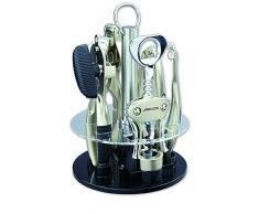 Arcos Zubehör - Geschenkbox Gadgets Küchengeräte Set 5 Stück - Zinklegierung - Verchromt Farbe Silber
