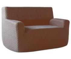 Comptoir du Linge polo2plmarron Sofabezug, bi-elastisch, Braun