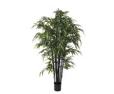 Mica decorations 992232 Bambus im Kunststofftopf Kunstpflanze, Polyester, Schwarz, 90 x 90 x 210 cm