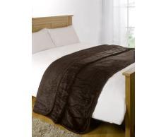 Luxus Kunstfell groß Mink Braun Fleece Überwurf über Sofa Bett Weiche Warme Decke, Chocolate Brown, King - 200 x 240xm