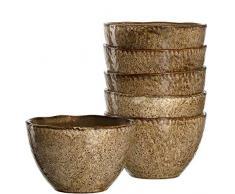 Leonardo Schale Matera 6-er Set, 15,3 cm, 6 Keramik Schalen, spülmaschinengeeignet, mit Glasur beige, 018535