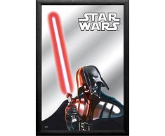 empireposter - Star Wars - Darth Vader - Größe (cm), ca. 30x20 - Bedruckter Spiegel, NEU - Beschreibung: - Bedruckter Wandspiegel mit schwarzem Kunststoffrahmen -