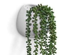 Übertopf, Vase aus Keramik, zum Aufhängen oder Hinstellen, 15,2 cm, Weiß