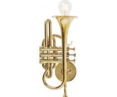 Kare Design Wandleuchte Trumpet Jazz Gold, kleine Wandlampe, Leuchte in Trompetenform, Lampe für die Wandmontage, Wandleuchte, Nachtlicht, (H/B/T) 15x41x26cm