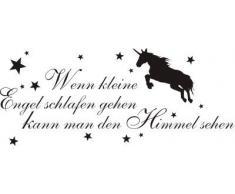 INDIGOS WG30043-80 Wandtattoo w043 Spruch Wenn kleine Engel schlafen kann man den Himmel sehen 120 x 50, braun