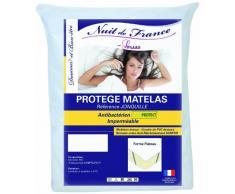Nuit de France 329403 Schutzbezug für Matratze, Baumwolle/PVC, Weiß, weiß, 90 x 200 cm