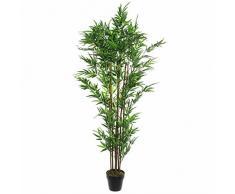 MICA Decorations Topf gruen-h180xd60cm Kunstpflanze, Bambus, grün, 60 x 60 x 180 cm, 2-Einheiten