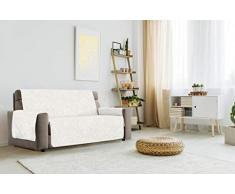 "Italian Bed Linen ""Glamour"" rutschfest Sofa Abdeckung, Creme, 4 Plätze"